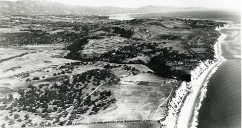 "The bluffs of Hope Ranch, location of one of the South Coast's ""volcanoes."""