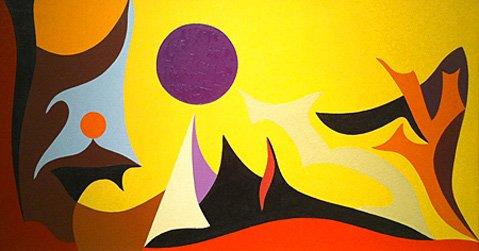 """Yellow Landscape"" by Karl Benjamin"