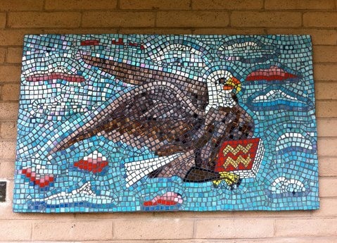 Mosaic made in memory of Jaciel Tellez