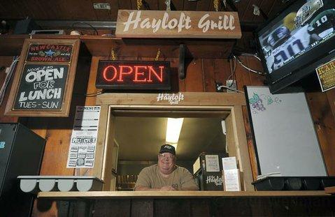 Hayloft Grill owner Mark Burnett.