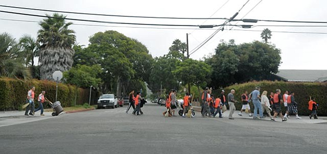 Saturday's Eastside cleanup participants