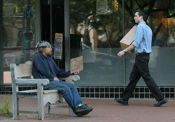 State Street panhandler