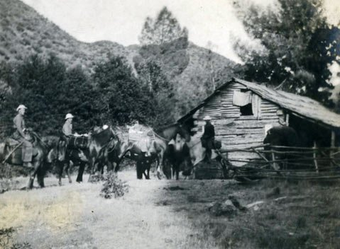 The hunter/outdoorsman lived in this area in a wooden cabin in the late 1800s.