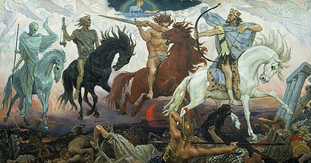 """Four Horsemen of the Apocalypse"" by Viktor Vasnetsov, painted in 1887."