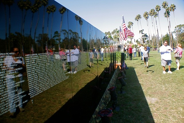 Moving Wall memorial in Chase Palm Park