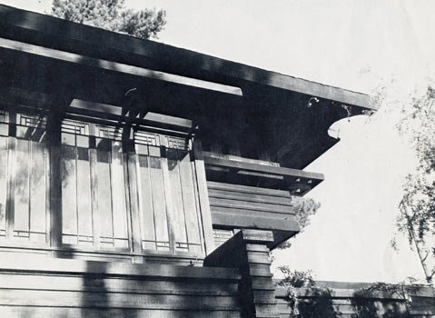 Detail of the George Stewart house in Montecito, architect Frank Lloyd Wright.