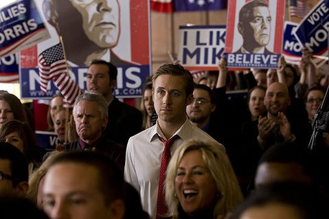 Ryan Gosling provides a powerful performance as an idealistic campaign manager in George Clooney's down-and-dirty political drama <em>The Ides of March</em>.