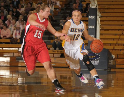 Emilie Johnson playing for UCSB in 2011.