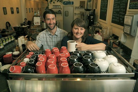 Todd Stewart and Julia Mayer of The French Press