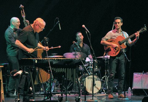 Gary Burton's New Quartet: (from left) Scott Colley, Burton, Antonio Sanchez, and Julian Lage.