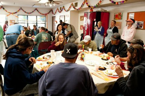 Santa Barbara Rescue Mission, Thanksgiving dinner 2010.