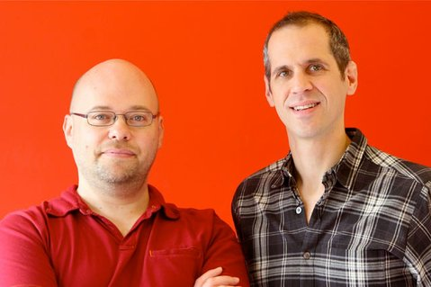 NPR's Alex Blumberg (right) is coming to UCSB's Campbell Hall to talk Planet Money on Wednesday night. He is pictured with NPR's Adam Davidson, who can't make the show and will be replaced by David Kestenbaum.