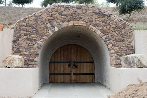The cave of Cottonwood Canyon Winery.