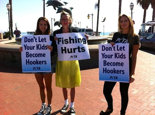 PETA anti-fishing protesters