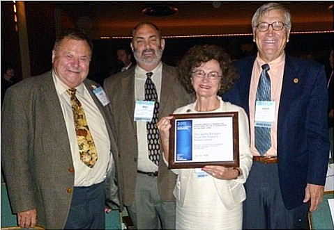 From left, SBTHP'S board president Robert Hoover, archaeologist Mike Imwalle, boardmember Mary Louise Days, and SBTHP's executive director Jarrell C. Jackman