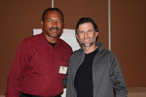 Socialist Party presidential candidate, Stewart Alexander (left), and vice presidential candidate, Alex Mendoza (right).
