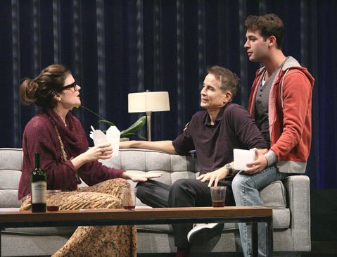 Betsy Brandt, Geoffrey Nauffts and James Wolk in the west coast premiere of Geoffrey Nauffts' Next Fall at the Geffen Playhouse directed by Sheryl Kaller.