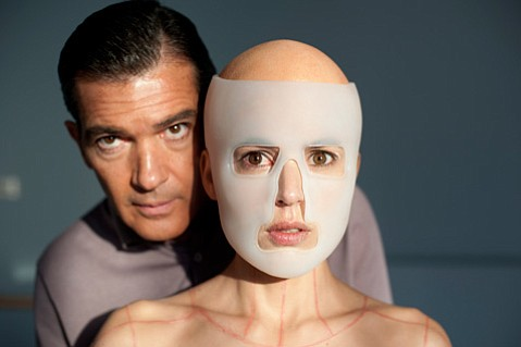 Antonio Banderas stars as a dashing mad doctor opposite Elena Anaya as his captive test subject in Pedro Almodóvar's pulpy <em>The Skin I Live In</em>.
