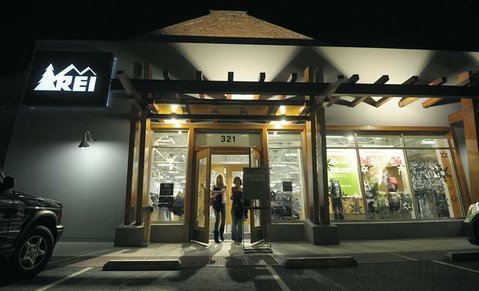 <strong>SHOPPERS, GET READY:</strong>  Although technically on Anacapa Street, REI is one of the newest stores within the State Street commercial corridor, and everyone's hoping that a booming holiday shopping season will mean that even more vacant storefronts will be filled in 2012.