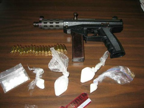 TEC-9 and meth seized from Ricardo Romo's home