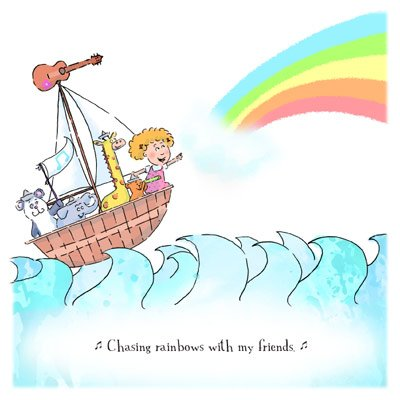 Santa Barbara's beloved illustrator releases her third children's book and holds a solo art show at The French Press through December.