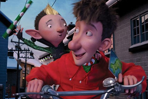 Santa's youngest son, Arthur (voiced by James McAvoy), sets out on an urgent mission in the animated Xmas charmer Arthur Christmas.