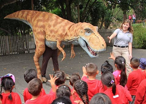 <em>How to Train Your Dinosaur</em> will show thrice daily at the S.B. Zoo from Dec. 17-Jan. 1.