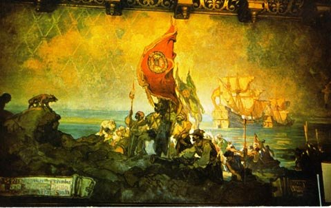 This panorama in the S.B. County Courthouse is the work of Daniel Sayre Groesbeck (1879-1950).