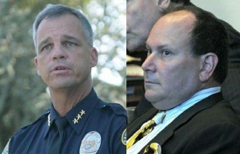 Assistant police chief Frank Mannix (left) and DUI attorney Daryl Genis
