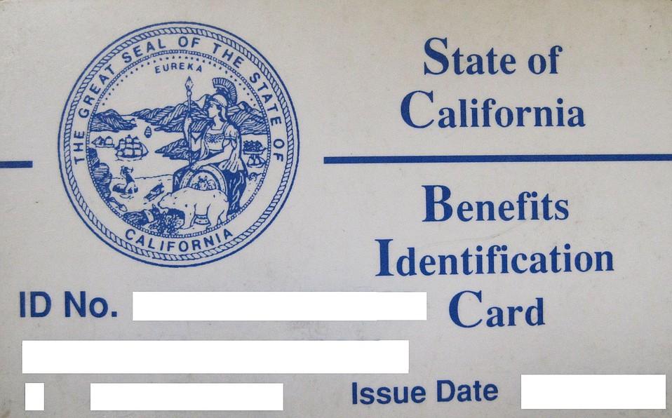 Sample Medi-Cal card