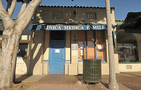 The front of Dr. Julio Diaz's Milpas Street clinic