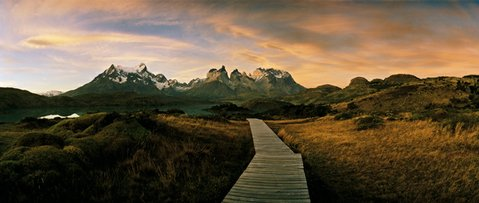 "<strong>THE MASSIF:</strong>  From Hotel Salto Chico in Torres del Paine, you can see the iconic Paine massif, its towers peaking out from the clouds and mist that surround it. ""[The] landmark towers formed from igneous granite and sedimentary layers that have been sculpted over millions of years, and at least ten periods of glaciation, into rugged emblematic profiles,"" describes Heebner. ""The park is a jewel within a province that encompasses a diversity of ecosystems, surprisingly varied for its extreme location — from dense forest to grassy steppes, glaciers, rivers, and lakes."""