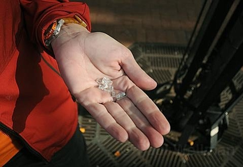 Gratitude, Plenitude, Tragedy, Humility, Joy: A  homeless woman suffering from mental illness and a wound that needed to be re-dressed gave her helpers little handfuls of shattered safety glass that she saw as diamonds.