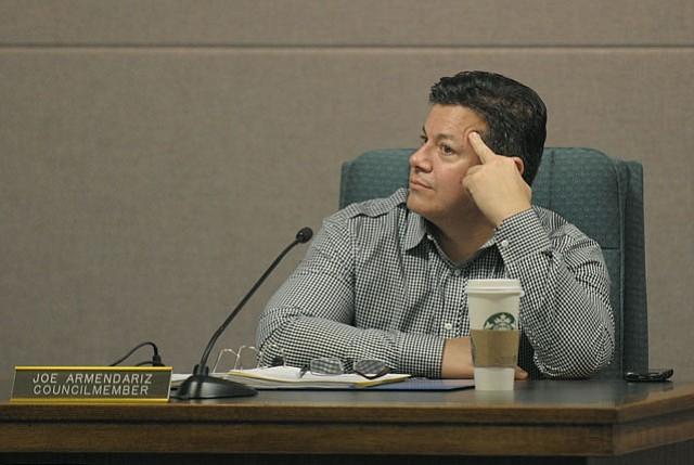 Carpinteria City Councilmember Joe Armendariz at Monday's meeting Jan. 23, 2011