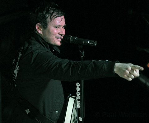 Blink 182's Tom DeLonge went the full-on frontman route when he stopped by Velvet Jones last week with his current project, Angels & Airwaves.