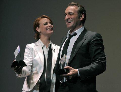 Jean Dujardin & Berenice Bejo receive the 2012 SBIFF Cinema Vanguard Award at the Arlington Theatre Feb. 4, 2012