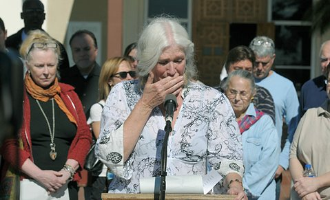 Nancy Speer speaks during an emotional press conference about her mentally ill son, Ben Warren, jailed for the last 11 months (February 11, 2012)
