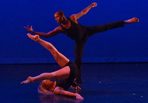 "This is Alyssa Thompson and Amadu Paul Turray in a piece called ""Sensed."" Choreographed by Amanda Hart. Dancers are part of Hart Pulse Dance Company from Los Angeles."