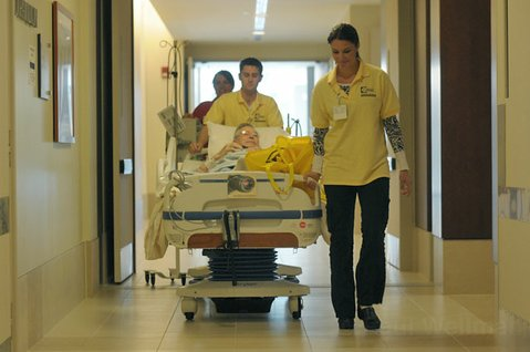 Joseph Mathis is one of the last patients to be moved