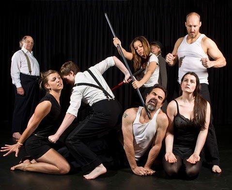 The cast of Lit Moon's production of <em>Henry VI, Part 3</em>.