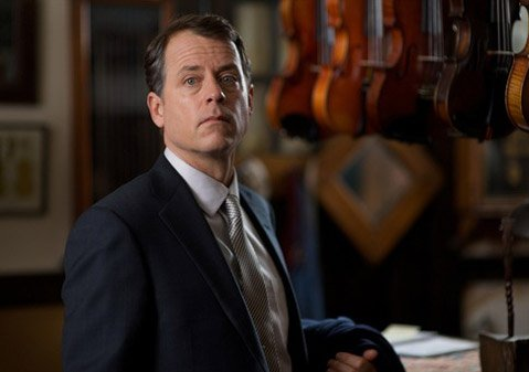 "Greg Kinnear plays a sleazy salesman trying to steal a ""famous"" violin from an old man (Alan Arkin) in the promising but poorly executed Thin Ice."