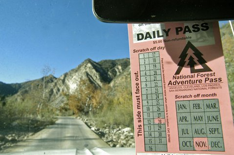 <strong>SUNSET FOR REC FEES?</strong>  If you're just driving through the Los Padres National Forest to take a hike or have a roadside picnic, you may no longer need an Adventure Pass, as a court decision from Arizona said recreational fees aren't necessary if you aren't using amenities.