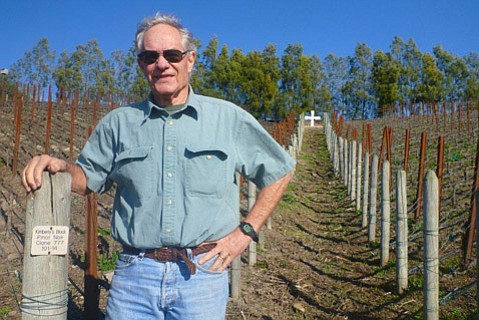 Vineyard owner Ron Melville