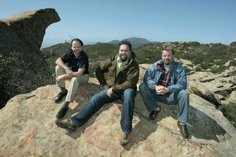 """<strong>MORE WILDERNESS = MORE DIRT BIKES?</strong>  Los Padres ForestWatch's (from left) Jeff Kuyper, Mike Summers, and Matt Sayles are calling Rep. Elton Gallegly's bill to establish more wilderness while opening up more forest roads to off-roading a """"mixed bag."""" Said Kuyper, """"That's what the public needs to determine: What's an appropriate trade-off for more wilderness areas? Is it opening some areas to motorized use? And how much is too much?"""""""