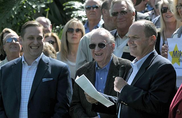 Left to right: State Senator Tony Strickland, former Congressmember Bob Lagomarsino, and Mike Stoker