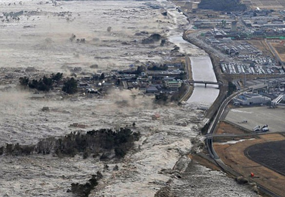 The March 11, 2011 tsunami in Japan.
