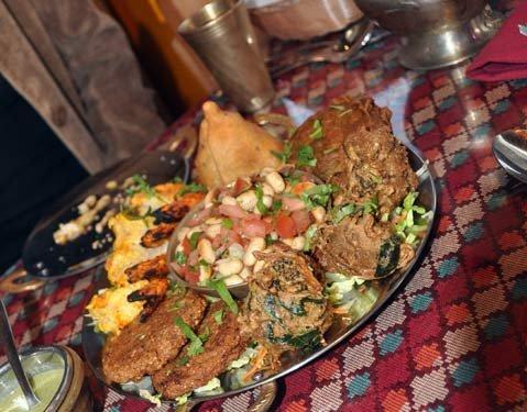 Platter of appetizers