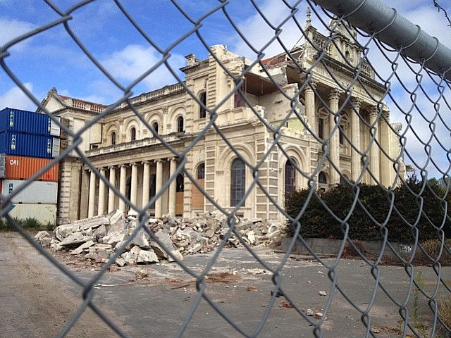 Christchurch's Catholic Cathedral was also badly damaged.