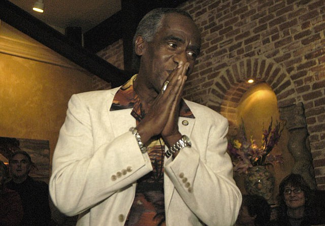 Babatunde Folayemi on Election Night in Pascucci Restaurant (November 4, 2003)