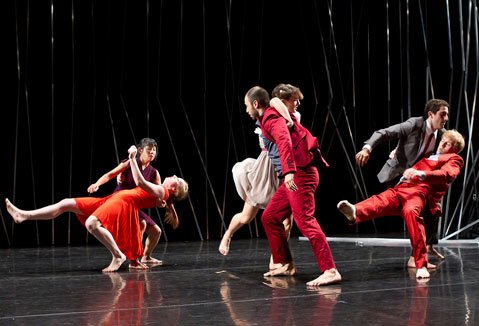 New York dance troupe Brian Brooks Moving Company premiered <em>Big City</em> (pictured above), a production created on and made for the Lobero stage, this past Friday night.